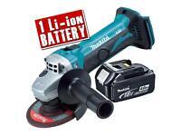 Makita 18v grinder 4ah battery new !!!