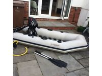 Dinghy boat with outboard great fun!