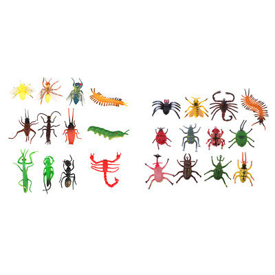 Set of 24 Plastic Bug Insects Model Figure Kids Toy Party Bag Favors (Plastic Bugs)