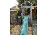 Kids wooden swing/slide set