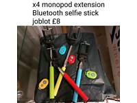 X4 Bluetooth selfie sticks
