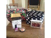 Make up bags and nail polishes