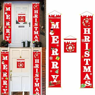 2019 Merry Christmas Porch Banner Christmas Outdoor For Home Hanging Decor Merry Christmas Decorations
