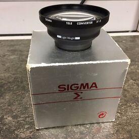 Sigma Tele Converter VT-L For Video Camera x1.5