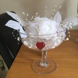 Glass bowl decoration