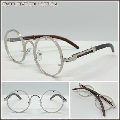 Classy Elegant Sophisticated Clear Lens EYE GLASSES Round Silver Fashion (Eyeglasses Round Rock)