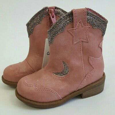 Pink Cowgirl Boots For Toddlers (Cat & Jack Girls Toddlers Pink Glitter Cowgirl Western Cowboy Boots Various)