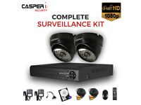 1080p 4CH DVR 2MP Full HD EYEBALL 4 in 1 Dome Camera 25m IR Day/Night Monitoring