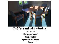 Office table and 6 chairs