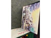 Christmas canvas x2