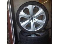 "Used, Nissan navara genuine KAHN 22"" alloy wheels for sale  Clackmannan, Clackmannanshire"