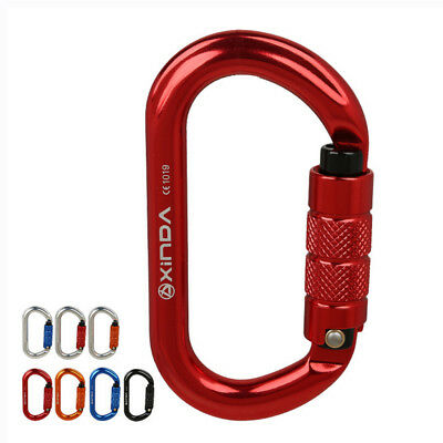 25kN Aluminum Oval Shape Twist Locking Carabiner for Pulley Working Rescue Climb ()