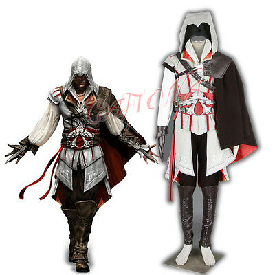 Cool Super Hero Costumes (Cafiona Cool Man Set Super Hero Ezio Auditore Cosplay Costume Fighting)
