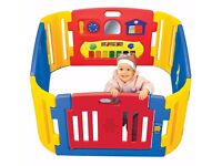 children Playzone Playpen with Electronic Lights and Sounds Play Yard, 8 piece