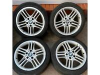 BMW 3 series 17 inch Alloy Wheels 5 x 120 Genuine Style 89 E46 E90 E36 M 225/45 r17 8j et47