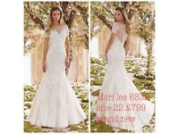 Mori lee 6832 size 22 brand new Ivory