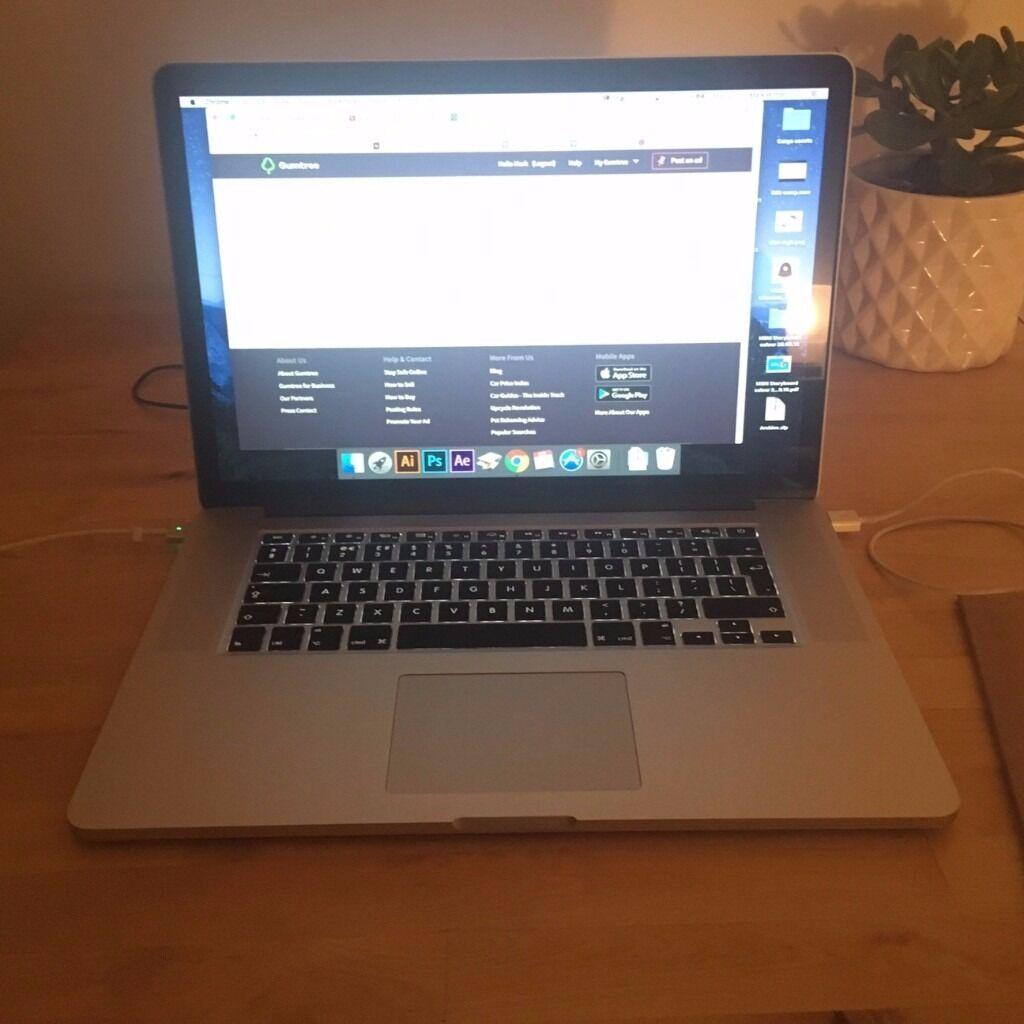 Macbook Pro Retina 15.4 inch, i7 2.2ghz, 16gb, 256gb SSD