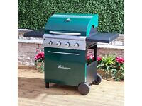 FIRE MOUNTAIN LOGAN 4 BURNER GAS BBQ WITH REGULATOR EX DISPLAY £110!! BARGAIN!!