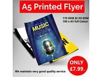 Hurry up! 100 A5 Printed Flyers Only at £ 7.99 !!!!!!