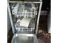 fully integrated slimline AEG dishwasher in vgc can deliver