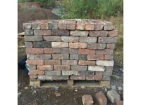 Vintage Reclaimed Imperial Bricks - Cleaned and Ready - BBQ Fireplace Wall Extension