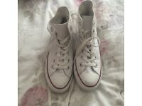 Converse high tops size 5 white