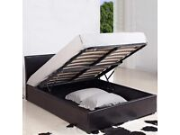 ⚡️⚡️Popular Bed Frame⚡️⚡️BRAND NEW DOUBLE OTTOMAN STORAGE BED FRAME ( BLACK,BROWN & WHITE )