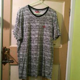 black and white lee cooper t shirt