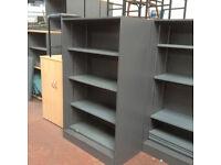 Grey Bookcases (Metal Shelves)