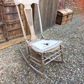Child's antique pine Victorian rocking chair