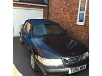 1999 Saab 93 2.0i convertible spares or repair.
