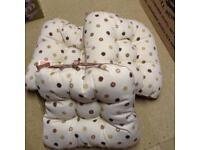 3 Dunelm spotty cushion pads