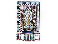 Multicoloured Outdoor Fountain, Moroccan Garden Mosaic Fountains 122 H 74cm L