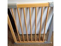 Safety stair gate as new adjustable opening type pressure fit no screws required.