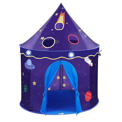 Outer Space Castle Play House Large Indoor/Outdoor Boys Kids Play Tent Toy