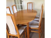 Teak Dining Table + 6 Chairs