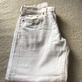 Levi 501 White Jeans