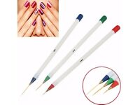 3 sizes Acrylic Nail Art Design Drawing Painting Striping DIY Brush Pen set Kit