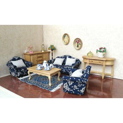 1/12 Wood Sofa Cushions Set Dollhouse Living Room Furniture Accessory Decor Dollhouse Living Room Set
