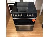 *** Black Belling 60cm ceramic double oven cooker***Free Delivery**Fitting**Removal
