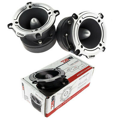 "Super Loud Tweeter Silver High Compression 1"" Bullet 700W (2) DS18 PRO-TW220"