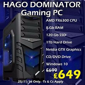GAMING PCs FROM £299 IN OUR BLACK FRIDAY SALE