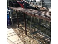 10ft 4 inch X 8ft 3 inch aluminium greenhouse with wooden shelving