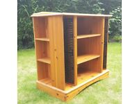 FREE FOR COLLECTION - PINE TV / ENTERTAINMENT UNIT, with storage for CDs, DVDs and consoles
