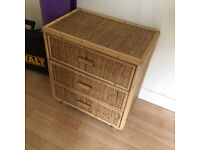 small wicker chest of draws