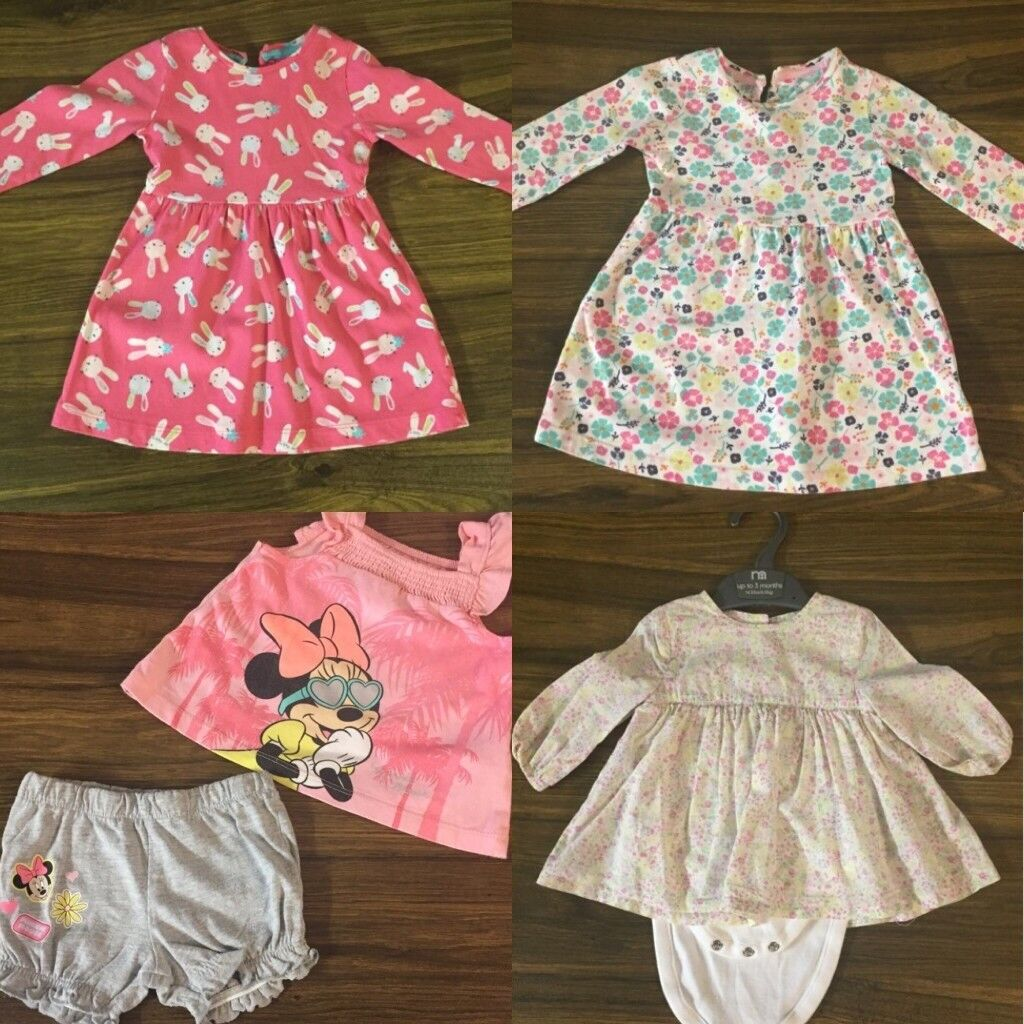 986206291 3-6 Months Old Baby Girls Clothes Bundle