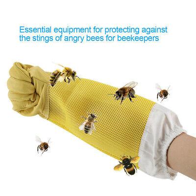 1 Pair Beekeeping Gloves Goat Skin Bee Keeping Vented Beekeeper Long Sleeves Xl