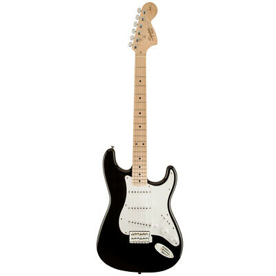 Squier by Fender Affinity Stratocaster Electric Guitar - Black w/ Maple Neck