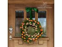 Spring door wreath - Tulips Door Wreath - Making an entrance uk - Easter