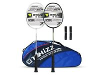 New WHIZZ Y56 Full Graphite Badminton Racket Set of 2 - Upgraded Version